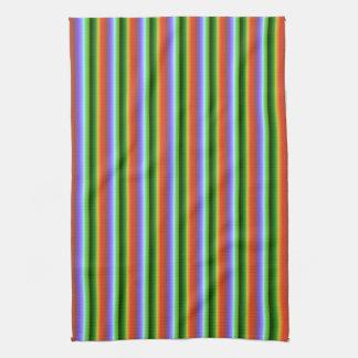 Rainbow Stripes. Fun Multi-color Pattern. Towel