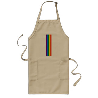 Rainbow Stripes Gay Pride LGBT Support Long Apron