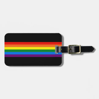 Rainbow Stripes Gay Pride LGBT Support Gifts Bag Tag