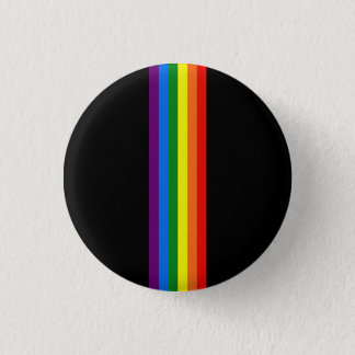 Rainbow Stripes Gay Pride LGBT Support Gifts Pinback Button