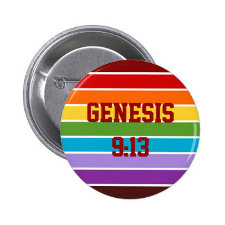 Rainbow Stripes, Genesis 9:13 Button