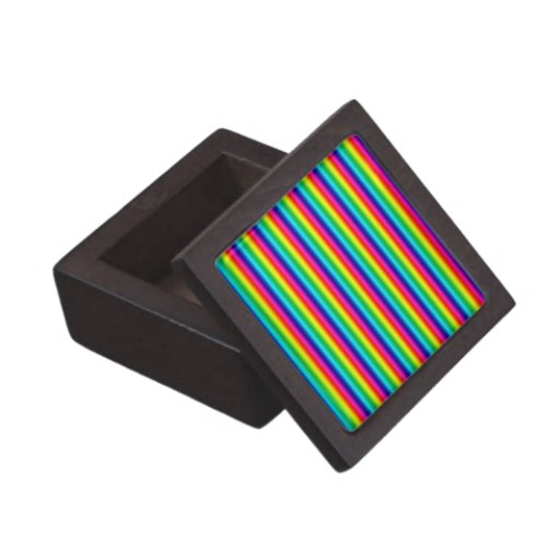 Rainbow Stripes Gift Box