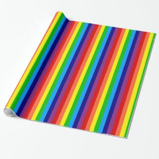 Rainbow Stripes Gift Wrap