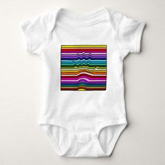 Rainbow Stripes Hand Baby Bodysuit