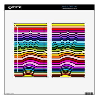 Rainbow Stripes Hand Kindle Fire Skin