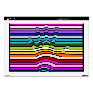 Rainbow Stripes Hand Laptop Decal