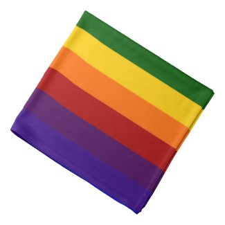 Rainbow Stripes Head Kerchiefs