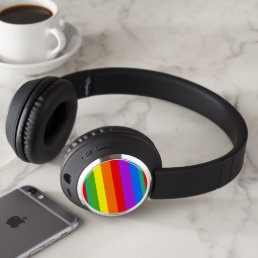 Rainbow Stripes Headphones