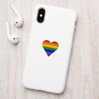 Rainbow Stripes Heart Patch