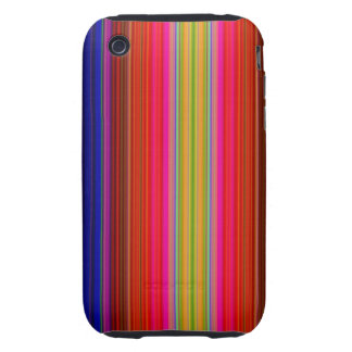 Rainbow Stripes iPhone 3 Tough Cover