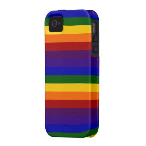 Rainbow Stripes Iphone 4 4s Case Zazzle