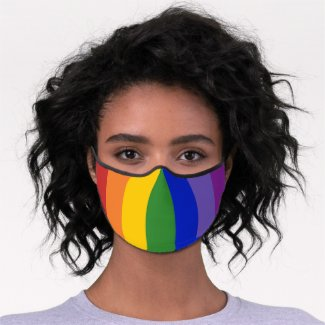 Rainbow Stripes LGBT Pride Premium Face Mask