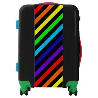 Rainbow Stripes Luggage