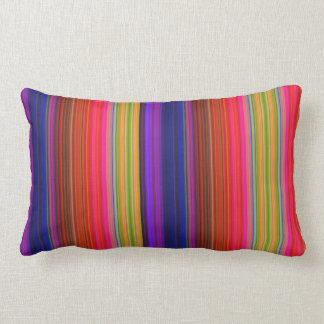 Rainbow Stripes Lumbar Pillow