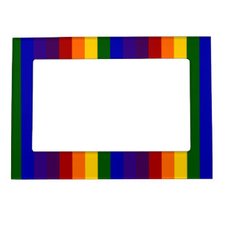 Rainbow Stripes Magnetic Picture Frame