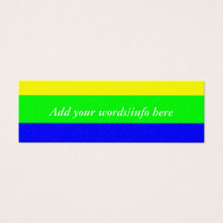 Rainbow Stripes Mini Business Card