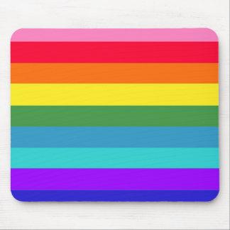 Rainbow Stripes Mouse Pad