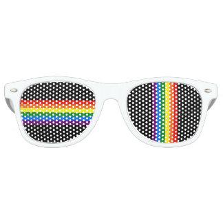 Rainbow Stripes on Black Gay Pride LGBT Support Wayfarer Sunglasses