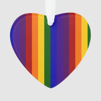Rainbow Stripes Ornament