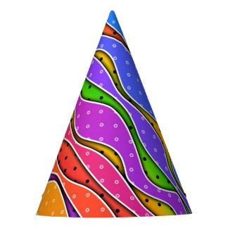 RAINBOW STRIPES PARTY HAT