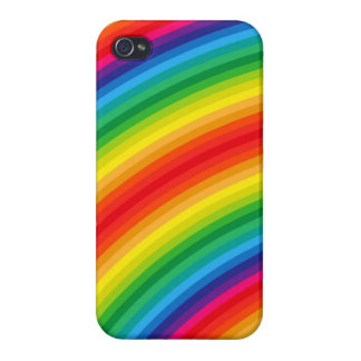 Rainbow Stripes Pattern Case For iPhone 4