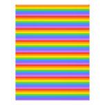 Rainbow Stripes Pattern. Custom Letterhead