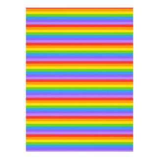 Rainbow Stripes Pattern Invitations