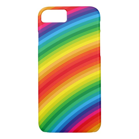 Rainbow Stripes Pattern iPhone 7 Case