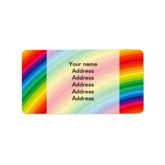 Rainbow Stripes Pattern Labels