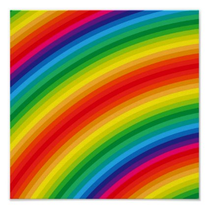 Rainbow Stripes Pattern Posters