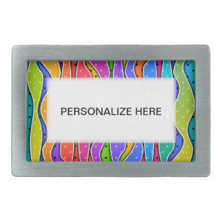 RAINBOW STRIPES Personalizable BELT BUCKLES