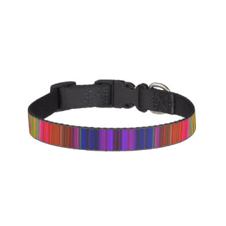 Rainbow Stripes Pet Collar