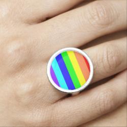 Rainbow Stripes Photo Rings