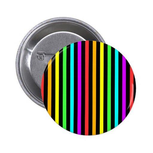Rainbow Stripes Pinback Buttons