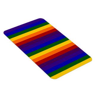 Rainbow Stripes Rectangular Photo Magnet