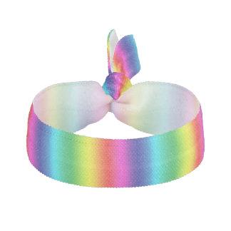 Rainbow Stripes Ribbon Hair Tie