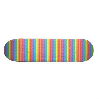 Rainbow Stripes Skateboard