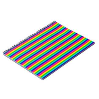 Rainbow Stripes Spiral Notebook