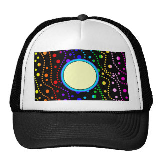 Rainbow Stripes Spray of Polka Dots Custom Pattern Trucker Hat