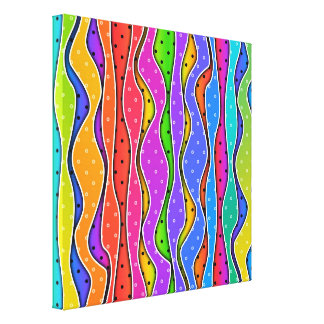 Rainbow STRIPES Stretched CANVAS PRINTS