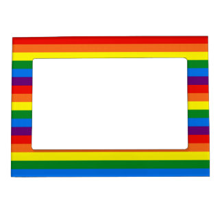 Rainbow Stripes Support Love/LGBT Support Gifts Magnetic Photo Frame