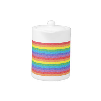 Rainbow Stripes Teapot