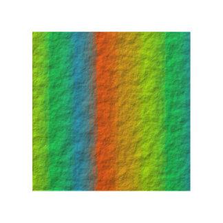 RAINBOW STRIPES TEXTURE WOOD WALL ART