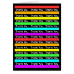 Rainbow Stripes Thank You Greeting Card