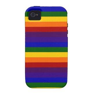 Rainbow Stripes Tough iPhone 4 Case