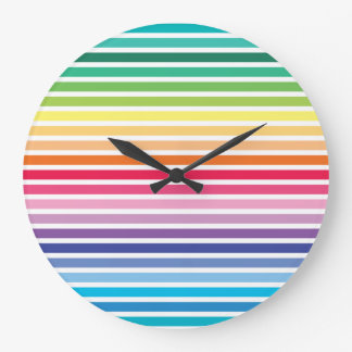 Rainbow Stripes Wall Clock