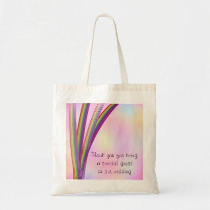 Rainbow Stripes Wedding Budget Tote Bag