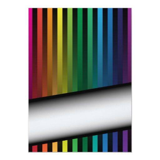 Rainbow Strips Card