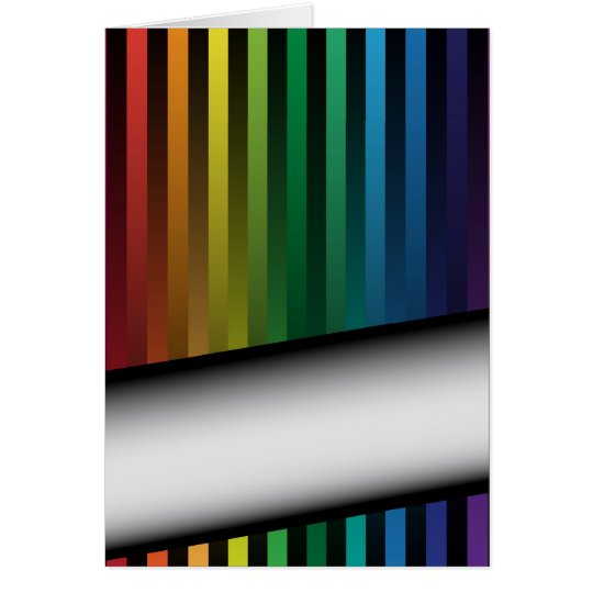 Rainbow Strips Card