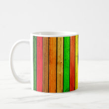 Rainbow strips coffee mug